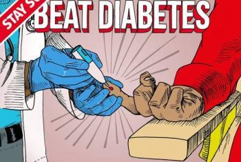 Dia Mundial da Saúde tem como destaque o combate ao diabetes. Foto: Reprodução de cartaz da OMS.