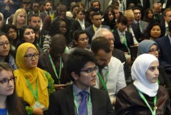 Cerca de 150 jovens representantes de todo o mundo participam do Fórum Global em Baku, no Azerbaijão. Foto: ONU/Masayoshi Suga
