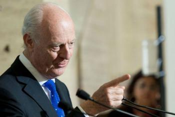 O enviado especial das Nações Unidas para a Síria,Staffan de Mistura. Foto: ONU/Jean-Marc Ferré