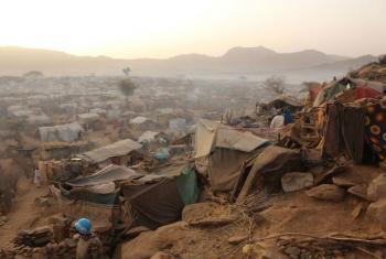 Manhã no campo de Sortony para deslocados internos em Darfur, em 16 de março de 2016. Foto: PMA/Marc Prost