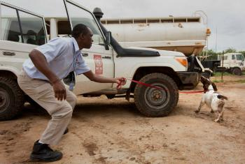 Serviço de Ação de Minas, Unmas, em Juba, no Sudão do Sul. Foto: Unmiss/JC McIlwaine