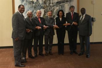 Embaixadores de vários países da Cplp presentes no evento realizado na sede da ONU. Foto: Missão do Brasil junto à ONU