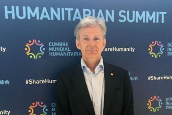 Jan Egeland na Conferência Humanitária Mundial. Foto: ONU/Fabrice Robinet