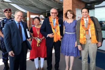 """Eliasson reafirmou rassistência da ONU ao Nepal """"com tudo o que for possível"""". Foto: Pnud/Nepal."""