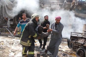 Ataque a um hospital na Síria. Foto: OMS/K. Al-Masri
