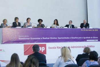 Encontro destacapolíticas sociais que beneficiaram mulheres.Foto: ONU Mulheres/Bruno Spada