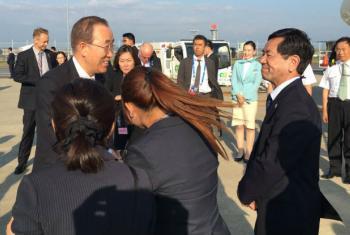 Ban Ki-moon depois da cúpula do G7 em Tóquio, no Japão. Foto: ONU