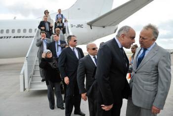 Membros do Conselho de Segurança chegam à Somália. Foto: ONU