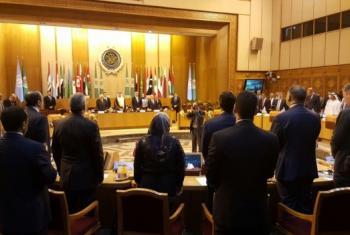 Membros do Conselho de Segurança e da Liga Árabe realizaram um minuto de silêncio em homenagem às vítimas do voo MS804 da EgyptAir que caiu no Mar Mediterrâneo na quinta-feira. Foto/Bahaa Elkoussy