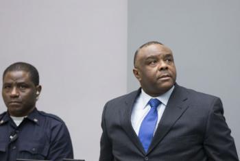 Jean-Pierre Bemba no Tribunal Penal Internacional. Foto: TPI