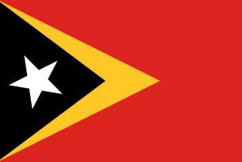 Bandeira de Timor-Leste.