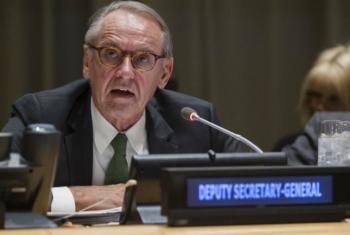 Jan Eliasson em reunião nesta quinta-feira. Foto: ONU/Manuel Elias