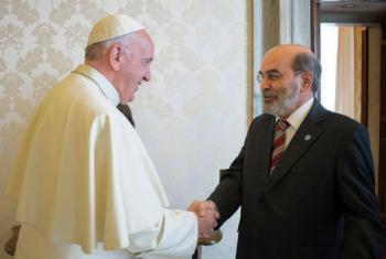 Encontro do papa Francisco com o diretor-geral da FAO, José Graziano da Silva. Foto: FAO