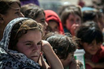 Acnur ajuda a oferecerserviços de proteção às famílias deslocadas.Foto: Ocha Iraque (arquivo)