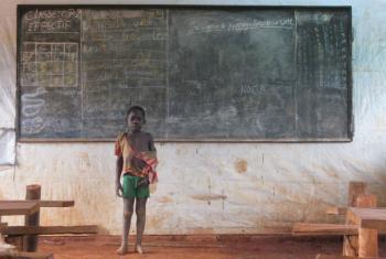 Menino congolês refugiado na República Centro-Africana. Foto: Ocha/Lauren Paletta