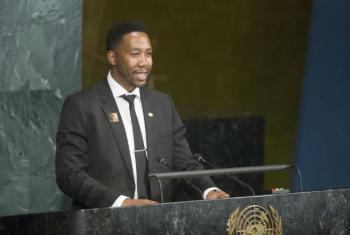 Ndaba Mandela no Encontro de Alto Nível na Assembleia Geral sobre HIV/Aids.Foto: ONU/Rick Bajornas