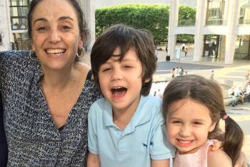 Patrícia Chapman com os filhos. Foto: Arquivo pessoal.