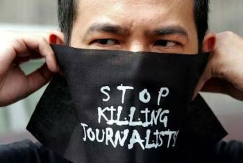 Parem de assassinar jornalistas. Foto: Unesco