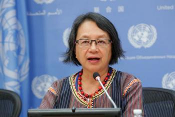 Relatora especial, Victoria Tauli-Corpuz. Foto: ONU/JC McIlwaine
