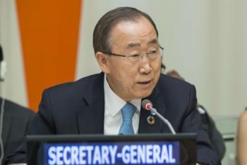 Ban Ki-moon nesta terça-feira no debate de alto nível sobre os impactos do El Niño. Foto: ONU/Eskinder Debebe