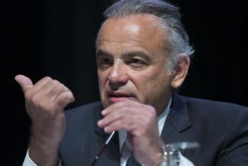 Luiz Loures durante a 21ª Conferencia Internacional sobre a Sida. Foto: ©International AIDS Society/Rogan Ward
