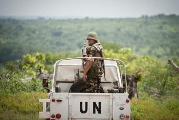 Integrante da Minusca na República Centro-Africana. Foto: ONU/Catianne Tijerina