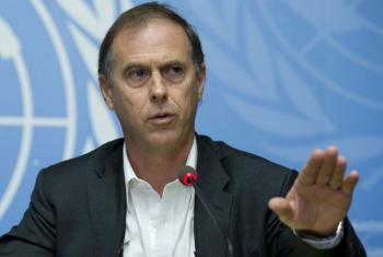 O porta-voz do Alto Comissariado, Rupert Colville.Foto: ONU/Jean-Marc Ferré