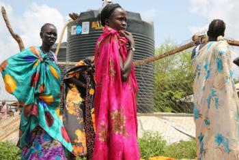 Mulheres deslocadas devido aos confrontos em Juba, Sudão do Sul. Foto: Unicef/Irwin