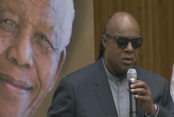 Stevie Wonder. Foto: Reprodução ONU TV