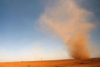 Tempestades de areia mais frequentes são um dos sintomas da mudança climática no Sudão. Foto: Aiea/N. Jawerth