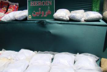Heroína apreendida no Irã. Foto: Unodc