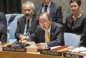 Ban Ki-moon em discurso no Conselho de Segurança. Foto: ONU/JC McIlwaine