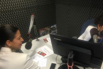 Diretora do Unaids no Brasil, Georgiana Braga-Orillard, em entrevista à Rádio ONU. Foto: Rádio ONU