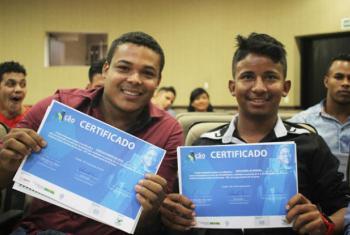 Iniciativa tem como objetivo fornecer apoio técnico e institucional aos jovens.Foto: OIT/Antonio Rodrigues