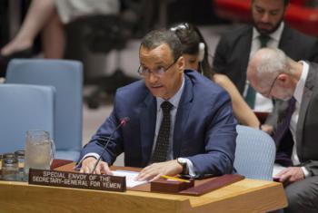Ismail Ould Cheikh Ahmed no Conselho de Segurança na manhã desta quarta-feira. Foto: ONU/Rick Bajornas