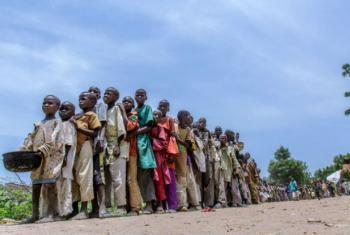 A região africana tem cerca de 2,4 milhões deslocados devido ao conflito. Desse número, mais de 1,5 milhão são crianças. Foto: Unicef/Andrew Esiebo