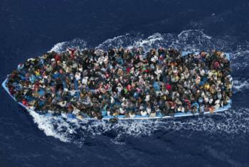 Mais de 75% das mortes de migrantes e refugiados este ano ocorreram na região do Mediterrâneo em comparação aos 60% do ano passado.Foto: OIM