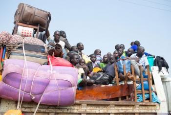 Refugiados do Sudão do Sul a caminho de Uganda. Foto: Acnur/Will Swanson.