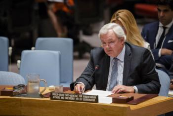 Subsecretário-geral da ONU para Assuntos Humanitários, Stephen O'Brien, faz pronunciamento no Conselho de Segurança. Foto: ONU//Manuel Elias.