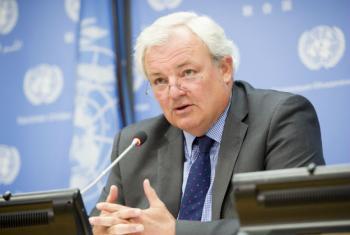Stephen O'Brien. Foto: ONU/Rick Bajorna