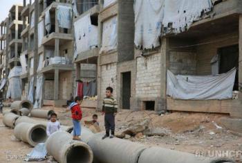 Crianças em Alepo, Síria. Foto: Acnur/Bassam Diab