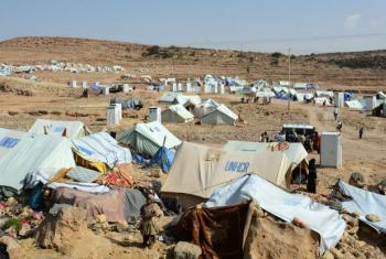 Acampamento de deslocados internos no Iêmen. Foto: Ocha/Philippe Kropf
