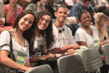 Jovens participam de evento da ONU e Fiocruz. Foto: UNIC Rio/Matheus Otanari