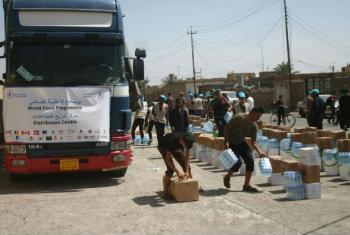 PMA distribui alimentos para mais de 30 mil iraquianos em Qayarah. Foto: Organização do Empoderamento das Mulheres (WEO)