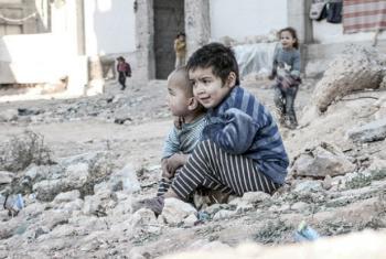 Crianças em um campo para deslocados internos na Síria. Foto: Unicef/UN013175/Al-Issa