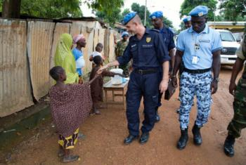 Luís Carrilho na República Centro-Africana. Foto: ONU/Nektarios Markogiannis