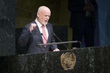 Peter Thomson, presidente da 71ª sessão da Assembleia Geral da ONU. Foto: ONU/Manuel Elias