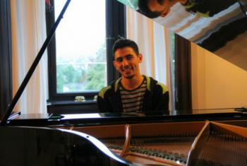 Pianista palestino Ayham al-Ahmad. Foto: Ayham al-Ahmad/Facebook