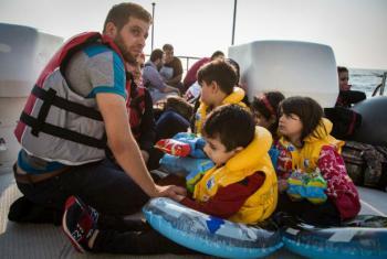 Os sírios representam quase metade dos refugiados e migrantes que chegam à Grécia.Foto: Acnur/Andrew McConnell