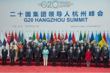 Líderes reunidos na cúpula do G20 em Hangzhou, na China. Foto: ONU/Eskinder Debebe